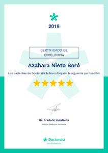 Certificado nutrición